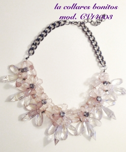 Collar flores de cristal