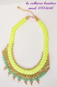 Trenzado amarillo, dorado, azul turquesa. Perfecto para el verano, más colores disponibles.