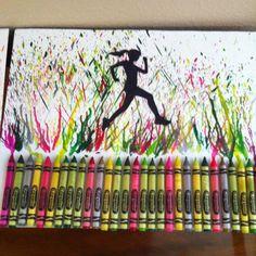Running sobre charcos de colores.