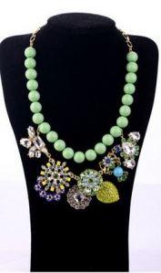 MODELO 14005. Bolas verdes agua y pedreria completan este collar, que queda divino! 12€